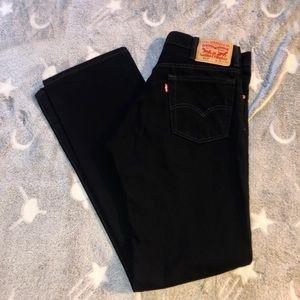 Levis 517 31x32 Black High Waist Bootcut Jeans